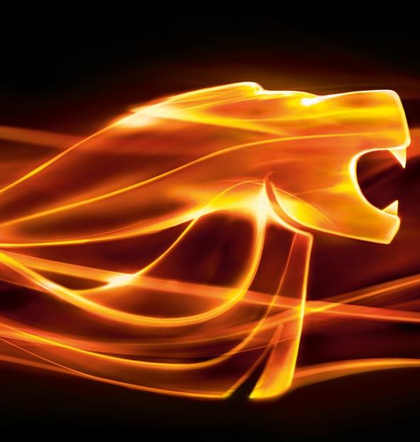 לוגו אריה מאן בצבע אש